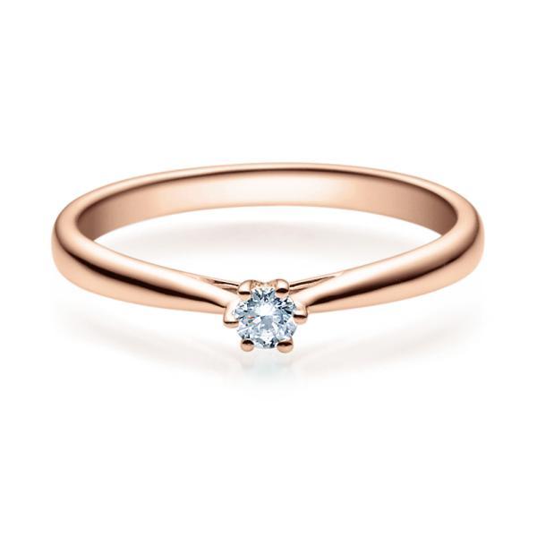 Rubin Verlobungsring 18007 Rotgold Solitär Ring 0,100 ct. tw/si