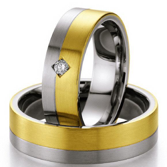 Ruesch Gold-Stahl-Ringe ST505B