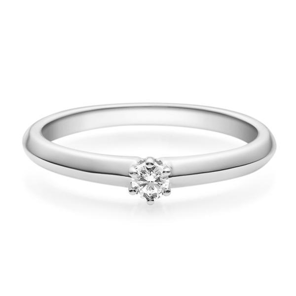Rubin Verlobungsring 18003 Silber 925 Solitär Ring 0.100 ct.