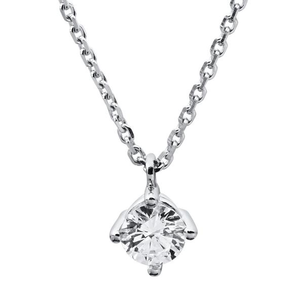 DiamondGroup Diamantcollier Collier 4er-Krappe 14 kt Weißgold - 4A310W4-10