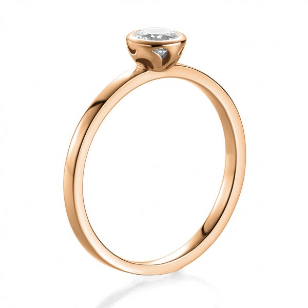 Antragsring Rotgold mit Brillant 0,20 ct 41/52910