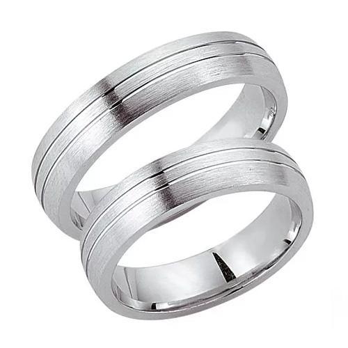 Schwarz Trauringe / Partnerringe Silber 925 SW925-017 Sterlingsilber feinmatt
