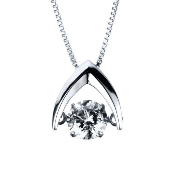 DiamondGroup Diamantcollier Collier 14 kt Weißgold, Zwischenöse 36,5 cm - 4A090W4-1