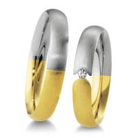 Breuning Trauringe Weißgold & Gelbgold 48/04155 & 48/04156