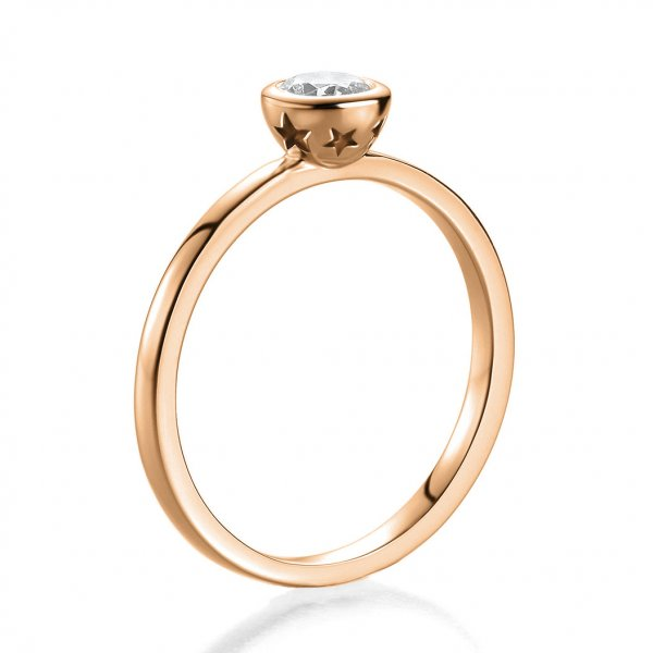 Antragsring Rotgold mit Brillant 0,30 ct 41/52950
