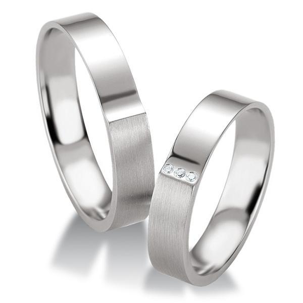 Breuning Trauringe Silber 925 Partnerringe 48/08083 & 48/08084
