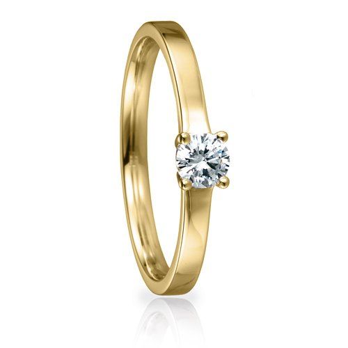 Solitaire Ring 82137 Brillant 0,25 ct Gelbgold