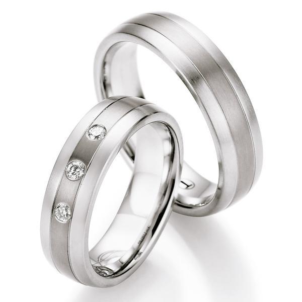 Ruesch Ringe Verlobungsringe Titan Stahl TS603B TS603