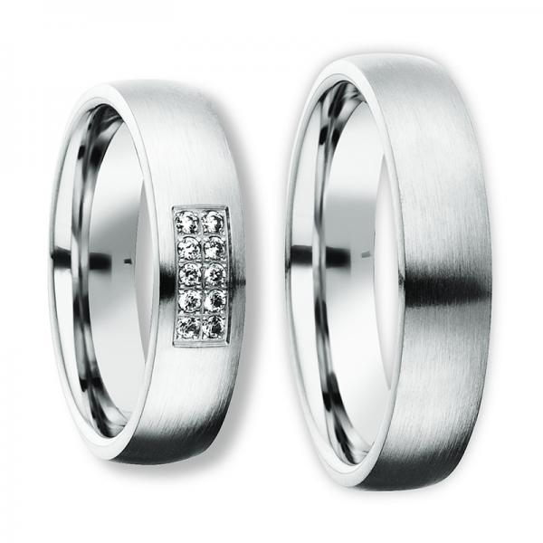 Freundschaftsringe Silber 925 Zirkonia Bedra 90055