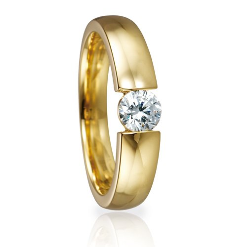 Solitaire Ring 82126 Brillant 0,40 ct Gelbgold