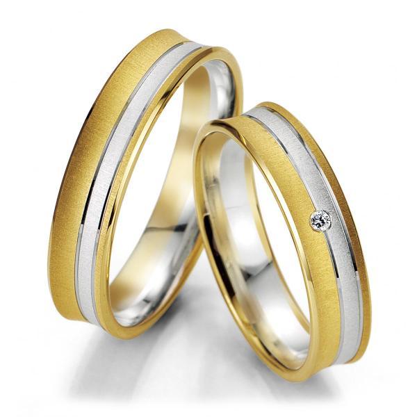 Breuning Trauringe 48/07049 & 48/07050 Gelbgold & Weißgold