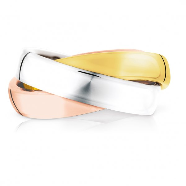 Quinn 3-in-1 Ring, Silber-Gold-Rosé