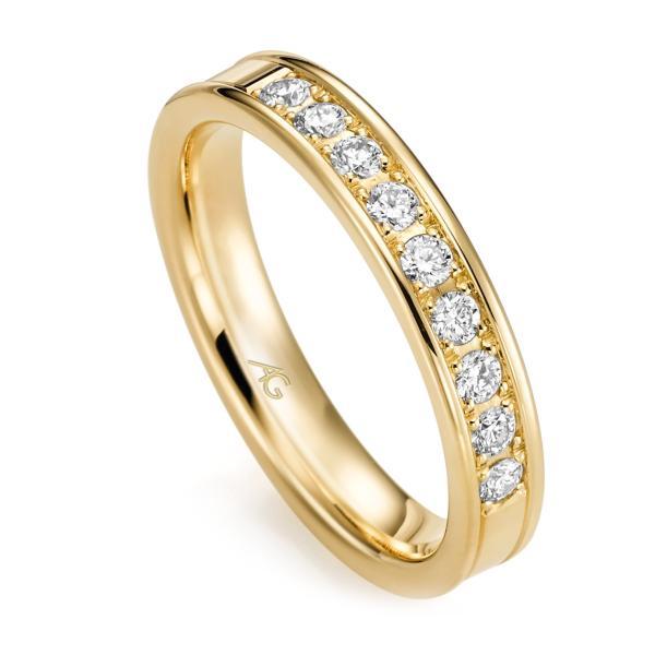 Memoire Ring Gelbgold 585 Brillant Gerstner 29762/3.8