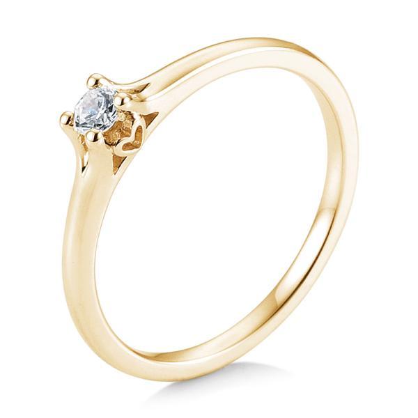 Saint Maurice Verlobungsring Gelbgold 585 Herz Brillant Krappenfassung 41/05719