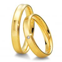 Trauringe Gelbgold Basic Breuning 48/04011 & 48/04012