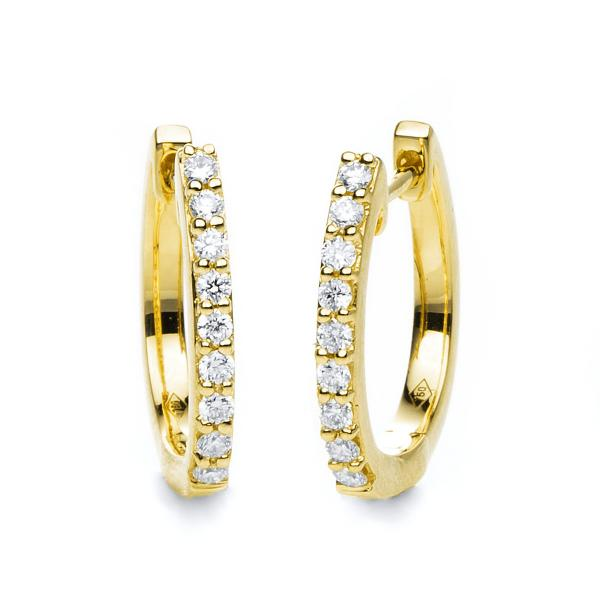 DiamondGroup Creolen aus 18 kt Gelbgold 2B860G8-6