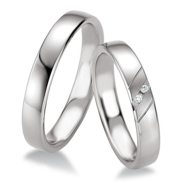 Breuning Trauringe Silber 925 Partnerringe 48/08085 & 48/08086