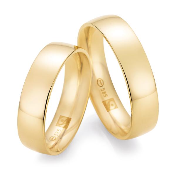 Ruesch Trauringe Gelbgold 585 Fairtrade 33/30200 & 33/30200