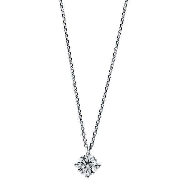 DiamondGroup Diamantcollier Collier 4er-Krappe 18 kt Weißgold, 42 cm, GIA6335345442 - 4D734W8-5