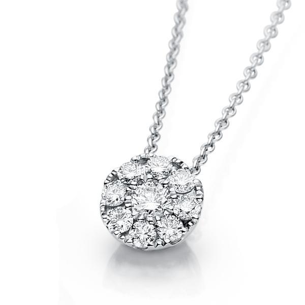 DiamondGroup Diamantcollier Collier 18 kt Weißgold - 4A238W8-2