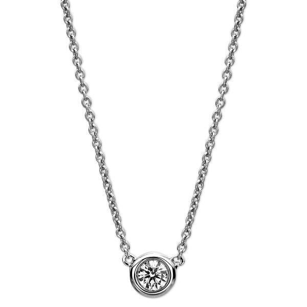 DiamondGroup Diamantcollier Collier Zarge 14 kt Weißgold - 4A367W4-3