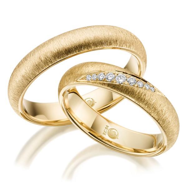 Rubin Trauringe 1524-1 Gelbgold Gold Brillant
