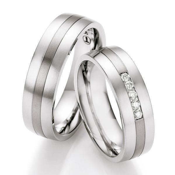Ruesch Ringe Verlobungsringe Titan Stahl TS609B TS609