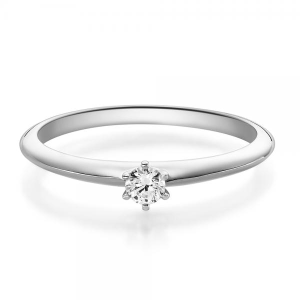 Rubin Verlobungsring Weißgold 18023 Solitär Ring