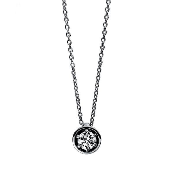 DiamondGroup Diamantcollier Collier 6er-Krappe 18 kt Weißgold - 4E011W8-2