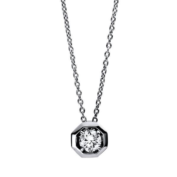DiamondGroup Diamantcollier Collier 4er-Krappe 18 kt Weißgold - 4E016W8-2