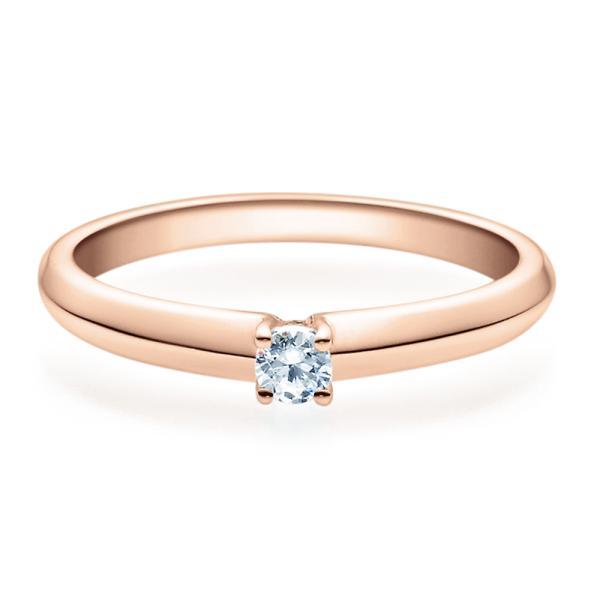 Rubin Verlobungsring Rotgold Solitär Ring 18004 Zirkonia 3 mm