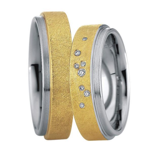 Saint Maurice Stahl-Gold-Ringe 88218 88219