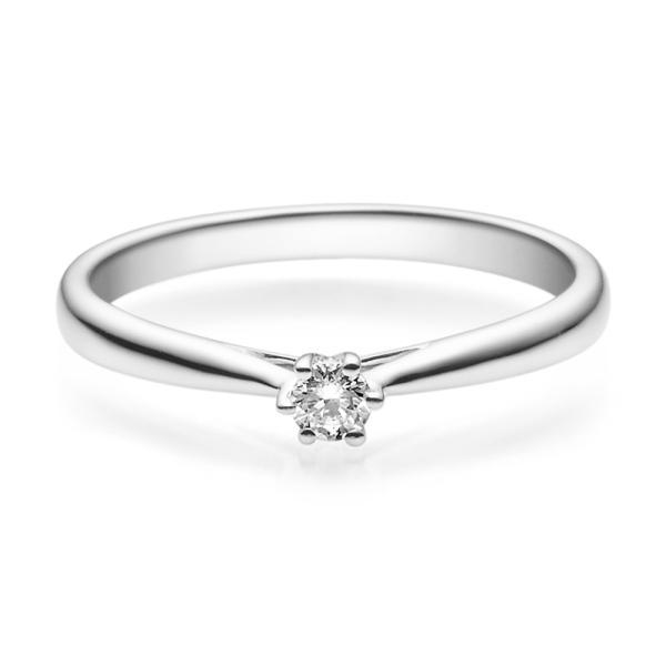 Rubin Verlobungsring 18007 Platin 950 Solitär Ring 0,100 ct. tw/si