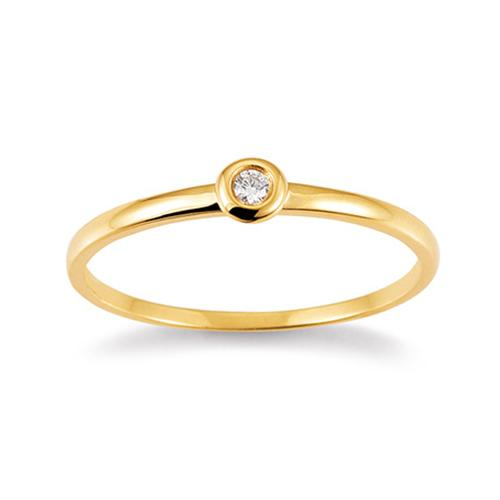 Palido First Love Ring Gelbgold Brillant Zargenfassung K10485G