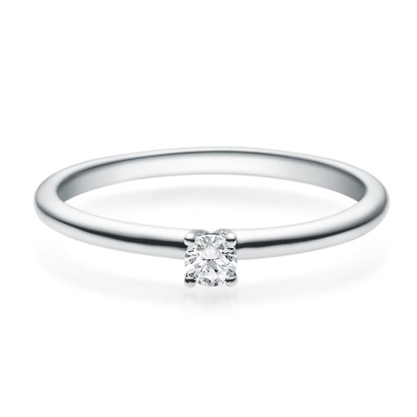 Rubin Verlobungsring 18018 Silber Solitär Ring 0,100 ct