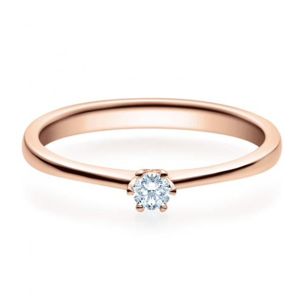 Rubin Verlobungsring 18016 Rotgold Solitär Ring 0.100 ct.