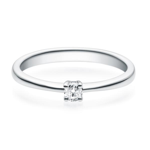 Rubin Verlobungsring 18008 Silber 925 Solitär Ring 0.100 ct.
