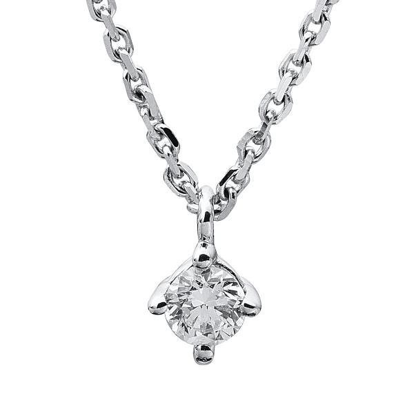DiamondGroup Diamantcollier Collier 4er-Krappe 14 kt Weißgold - 4A310W4-9