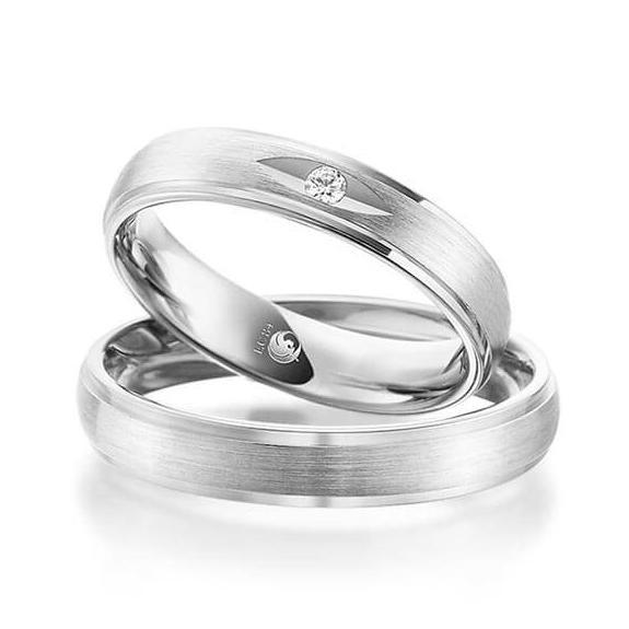 Rubin Eheringe 1083 Silber 925