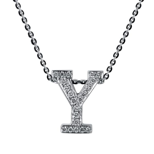 DiamondGroup Diamantcollier Collier 18 kt Weißgold Y - 4A190W8-1