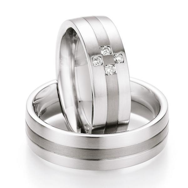 Ruesch Ringe Verlobungsringe Titan Stahl TS601B TS601