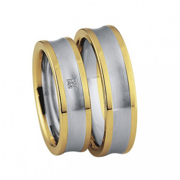 Saint Maurice Stahl-Gold-Ringe 88210 88211