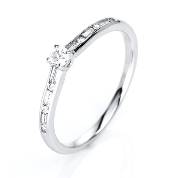DiamondGroup Diamantring 4er-Krappe 14 kt Weißgold - 1C855W456-1