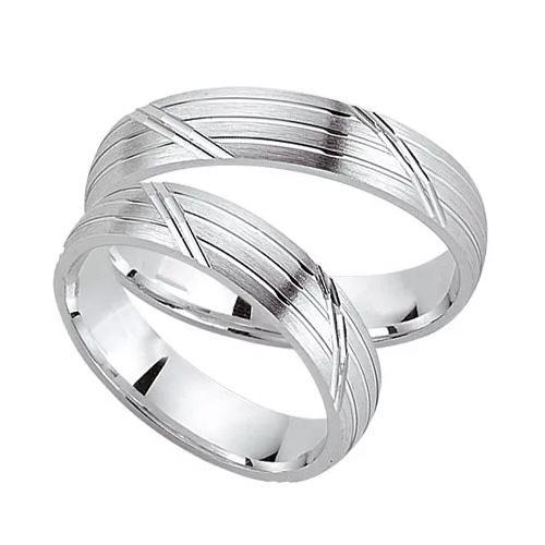 Schwarz Trauringe / Partnerringe Silber 925 SW925-014 Sterlingsilber feinmatt