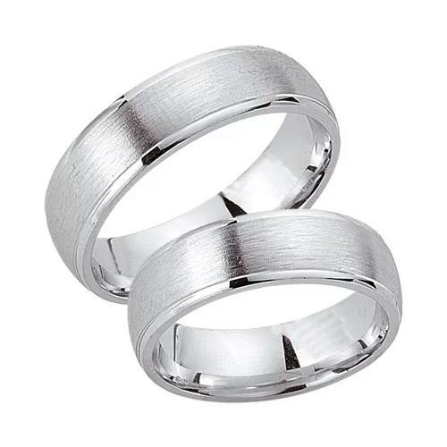 Schwarz Trauringe / Partnerringe Silber 925 SW925-012 Sterlingsilber feinmatt