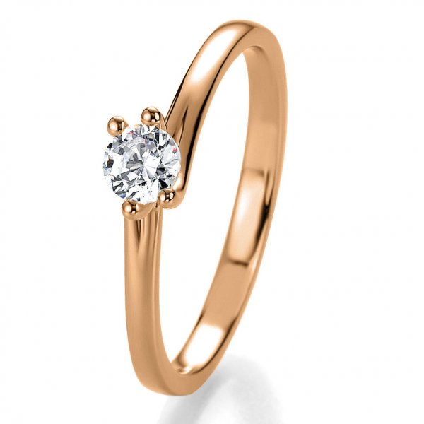 Antragsring Rotgold mit Brillant 0,20 ct 41/53090