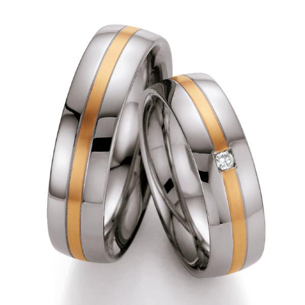 Ruesch Stahl-Gold-Ringe St137B