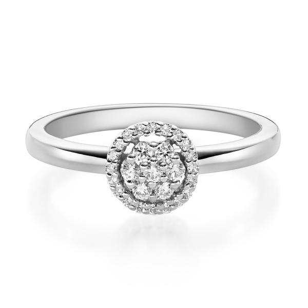 Rubin Verlobungsring 19010 Platin Solitär Ring 0,150 ct.