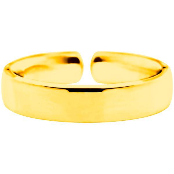 Quinn Einzelring Silberring gelbvergoldet, Golden-i