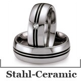 Freundschaftsringe Stahl-Ceramic